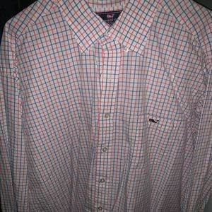vineyard vines xxl long sleeve shirt men's